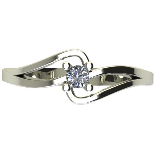 Годежен Пръстен бяло злато с диамант Forth 0,12 ct. 2701 a