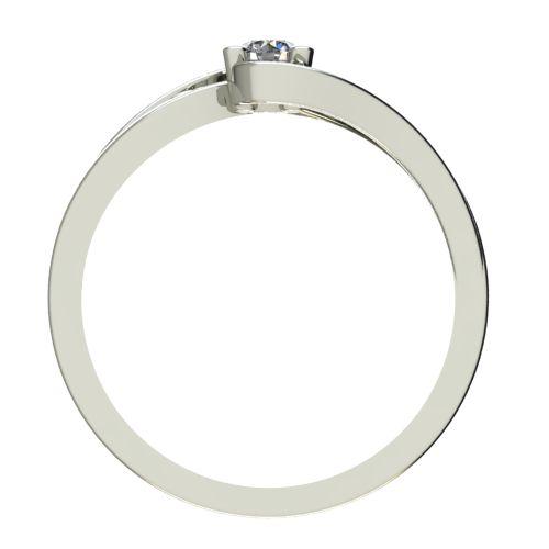 Годежен Пръстен бяло злато с диамант Forth 0,12 ct. 2701 b