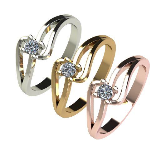 Годежен Пръстен бяло злато с диамант Forth 0,12 ct. 2701 c