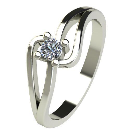 Годежен Пръстен бяло злато с диамант Forth 0,12 ct. 2701