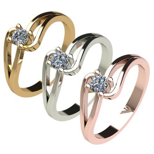 Годежен Пръстен бяло злато с диамант Forth 0,17 ct. 2702 c