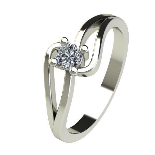 Годежен Пръстен бяло злато с диамант Forth 0,17 ct. 2702
