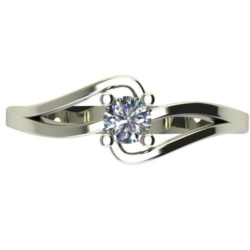 Годежен Пръстен бяло злато с диамант Forth 0,25 ct. 2732 a