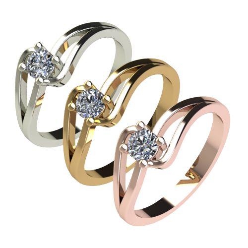 Годежен Пръстен бяло злато с диамант Forth 0,25 ct. 2732 c