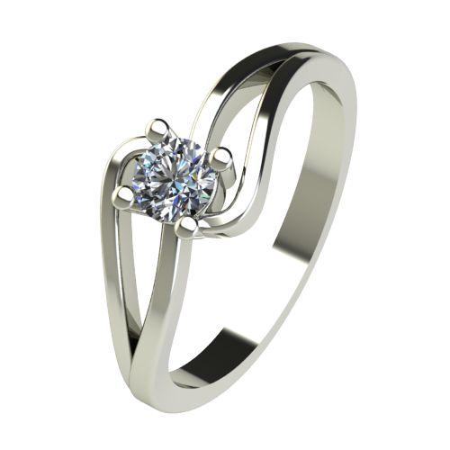Годежен Пръстен бяло злато с диамант Forth 0,25 ct. 2732
