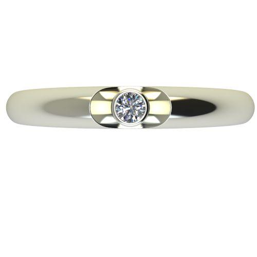 Годежен Пръстен бяло злато с диамант Moon 0,04 ct. 2690 a