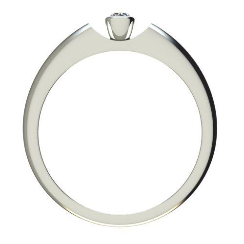 Годежен Пръстен бяло злато с диамант Moon 0,04 ct. 2690 b