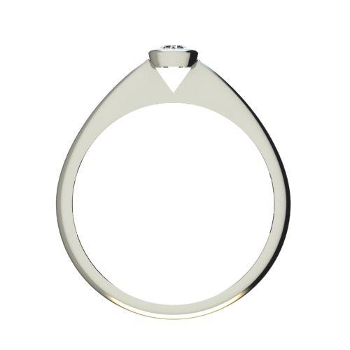 Годежен Пръстен бяло злато с диамант Moon 0,07 ct. 2727 b