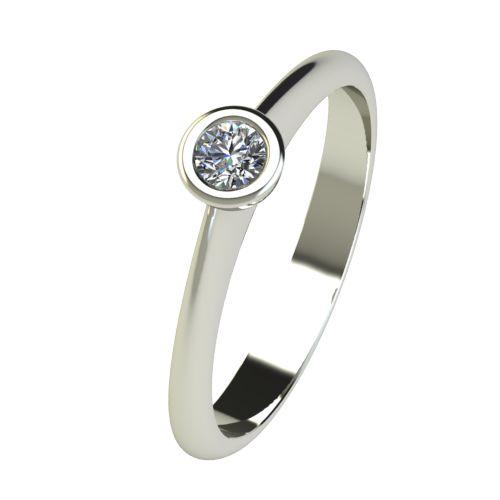 Годежен Пръстен бяло злато с диамант Moon 0,07 ct. 2727