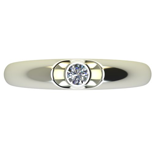 Годежен Пръстен бяло злато с диамант Moon 0,12 ct. 2692 a