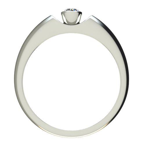 Годежен Пръстен бяло злато с диамант Moon 0,12 ct. 2692 b