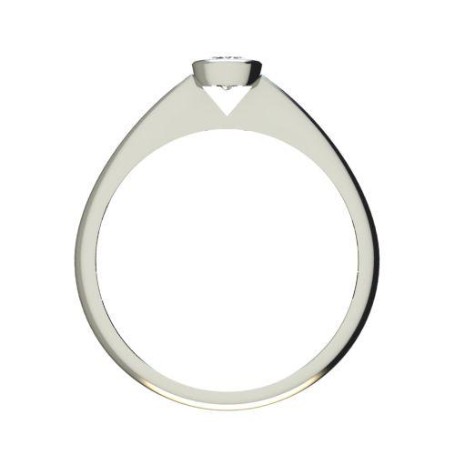 Годежен Пръстен бяло злато с диамант Moon 0,12 ct. 2728 b