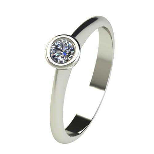 Годежен Пръстен бяло злато с диамант Moon 0,12 ct. 2728