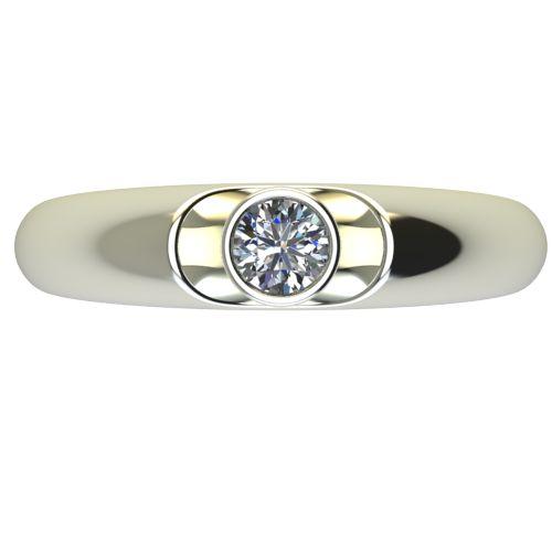 Годежен Пръстен бяло злато с диамант Moon 0,17 ct. 2693 a