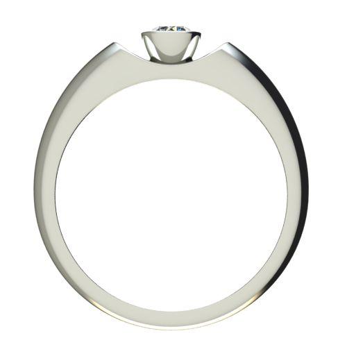 Годежен Пръстен бяло злато с диамант Moon 0,17 ct. 2693 b