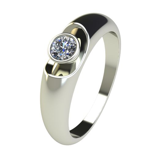 Годежен Пръстен бяло злато с диамант Moon 0,17 ct. 2693