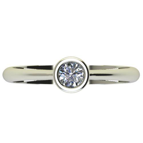 Годежен Пръстен бяло злато с диамант Moon 0,17 ct. 2729 a