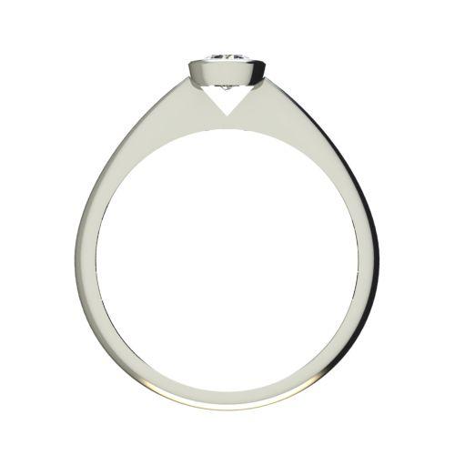 Годежен Пръстен бяло злато с диамант Moon 0,17 ct. 2729 b
