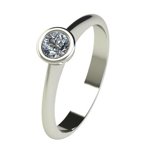 Годежен Пръстен бяло злато с диамант Moon 0,17 ct. 2729