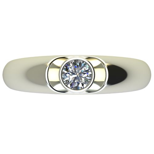 Годежен Пръстен бяло злато с диамант Moon 0,25 ct. 2694 a