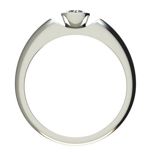 Годежен Пръстен бяло злато с диамант Moon 0,25 ct. 2694 b