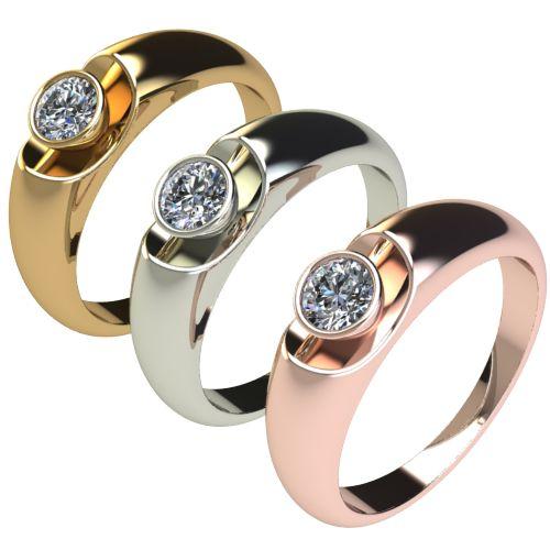Годежен Пръстен бяло злато с диамант Moon 0,25 ct. 2694 c