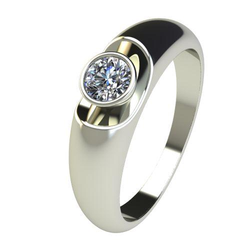 Годежен Пръстен бяло злато с диамант Moon 0,25 ct. 2694