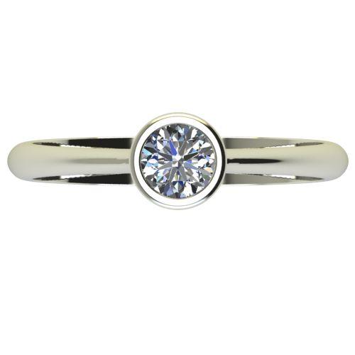Годежен Пръстен бяло злато с диамант Moon 0,25 ct. 2730 a