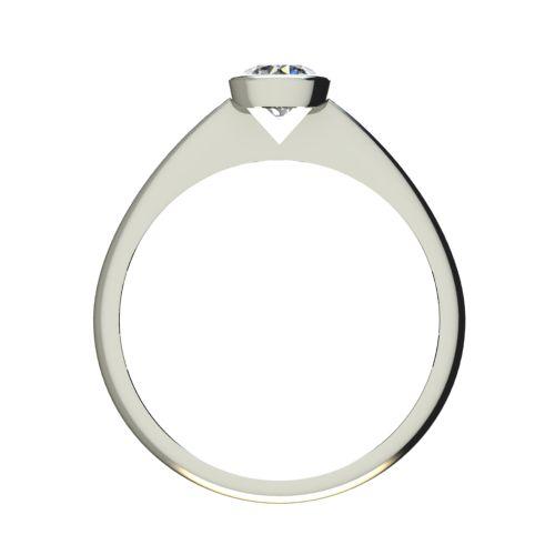 Годежен Пръстен бяло злато с диамант Moon 0,25 ct. 2730 b