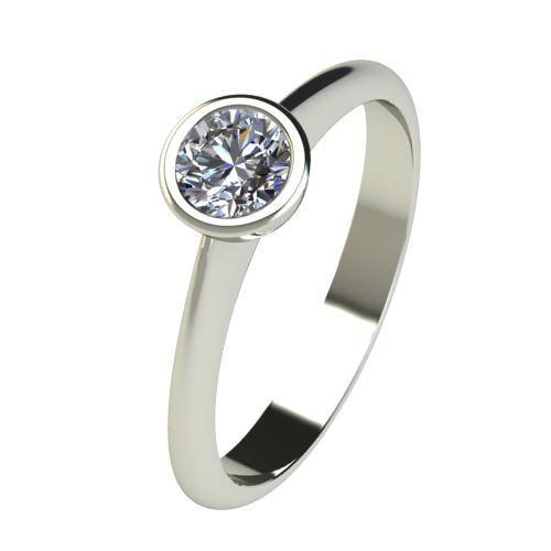Годежен Пръстен бяло злато с диамант Moon 0,25 ct. 2730
