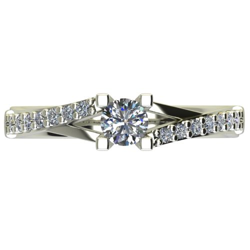 Годежен Пръстен бяло злато с диамант Vision 0,45 ct. 2731 a