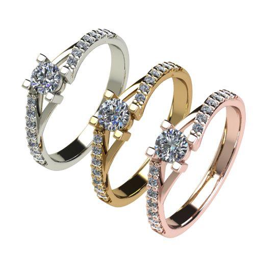 Годежен Пръстен бяло злато с диамант Vision 0,45 ct. 2731 c