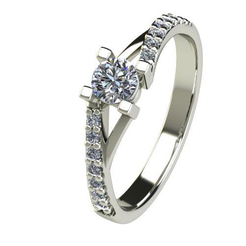 Годежен Пръстен бяло злато с диамант Vision 0,45 ct. 2731