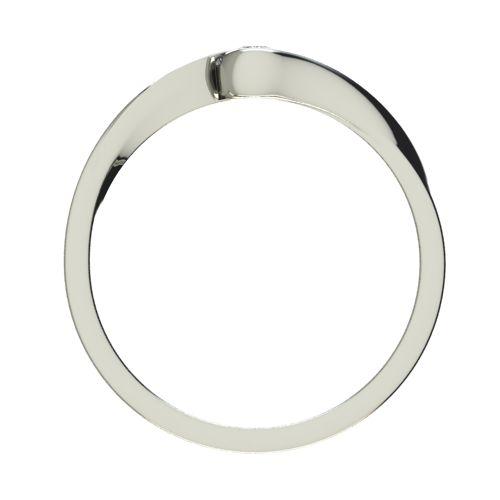 Годежен Пръстен бяло злато с диамант Accent 0,04 ct. 2740 b