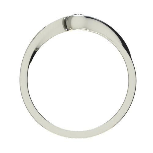 Годежен Пръстен бяло злато с диамант Accent 0,07 ct. 2741 b