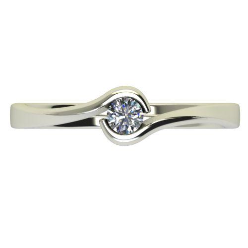 Годежен Пръстен бяло злато с диамант Accent 0,12 ct. 2742 a