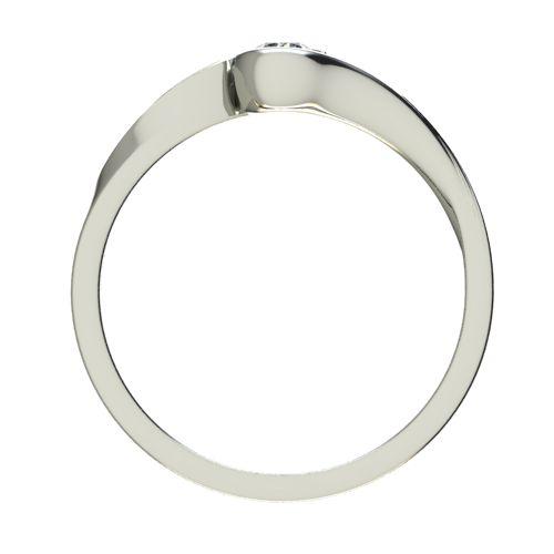 Годежен Пръстен бяло злато с диамант Accent 0,12 ct. 2742 b