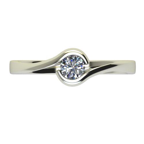 Годежен Пръстен бяло злато с диамант Accent 0,17 ct. 2743 a