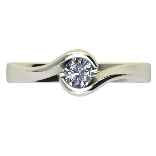 Годежен Пръстен бяло злато с диамант Accent 0,25 ct. 2744 a