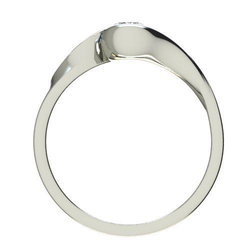 Годежен Пръстен бяло злато с диамант Accent 0,25 ct. 2744 b