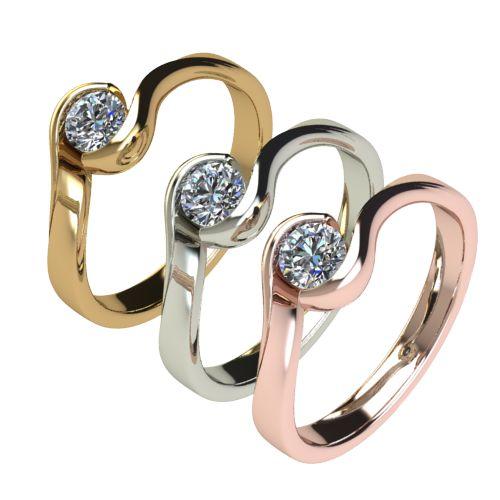 Годежен Пръстен бяло злато с диамант Accent 0,25 ct. 2744 c
