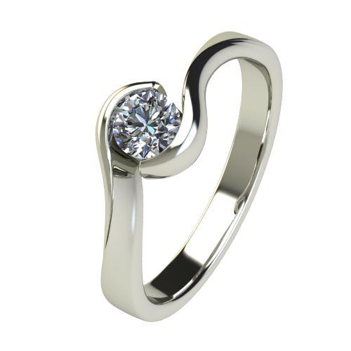 Годежен Пръстен бяло злато с диамант Accent 0,25 ct. 2744