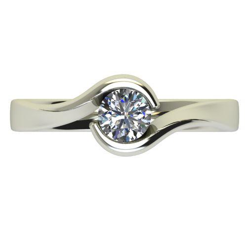 Годежен Пръстен бяло злато с диамант Accent 0,36 ct. 2745 a