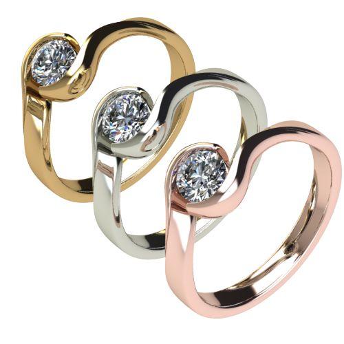 Годежен Пръстен бяло злато с диамант Accent 0,36 ct. 2745 c