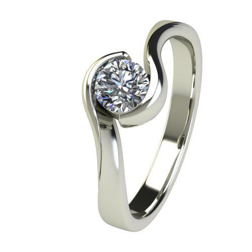Годежен Пръстен бяло злато с диамант Accent 0,36 ct. 2745