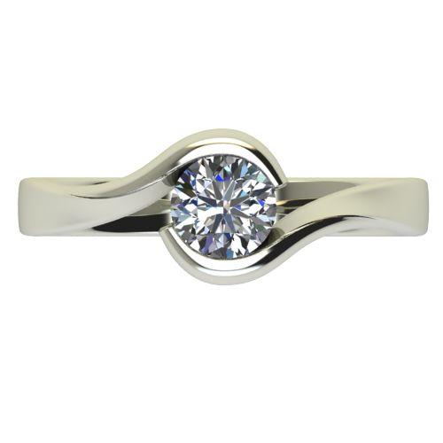 Годежен Пръстен бяло злато с диамант Accent 0,50 ct. 2746 a