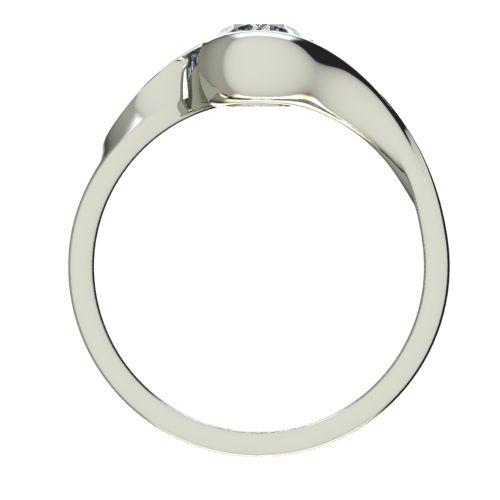Годежен Пръстен бяло злато с диамант Accent 0,50 ct. 2746 b