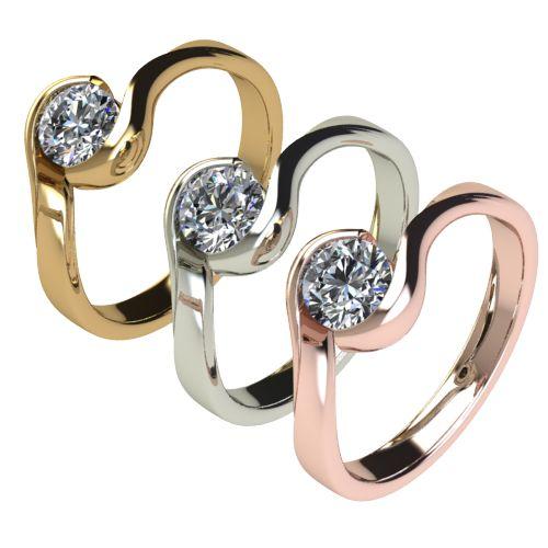 Годежен Пръстен бяло злато с диамант Accent 0,50 ct. 2746 c