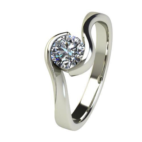 Годежен Пръстен бяло злато с диамант Accent 0,50 ct. 2746