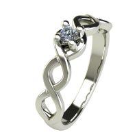 Годежен Пръстен бяло злато с диамант Cast 0,07 ct. 2754